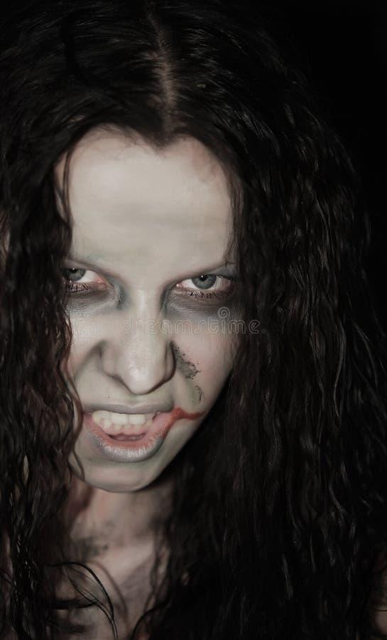 страшная женщина стоковое изображение