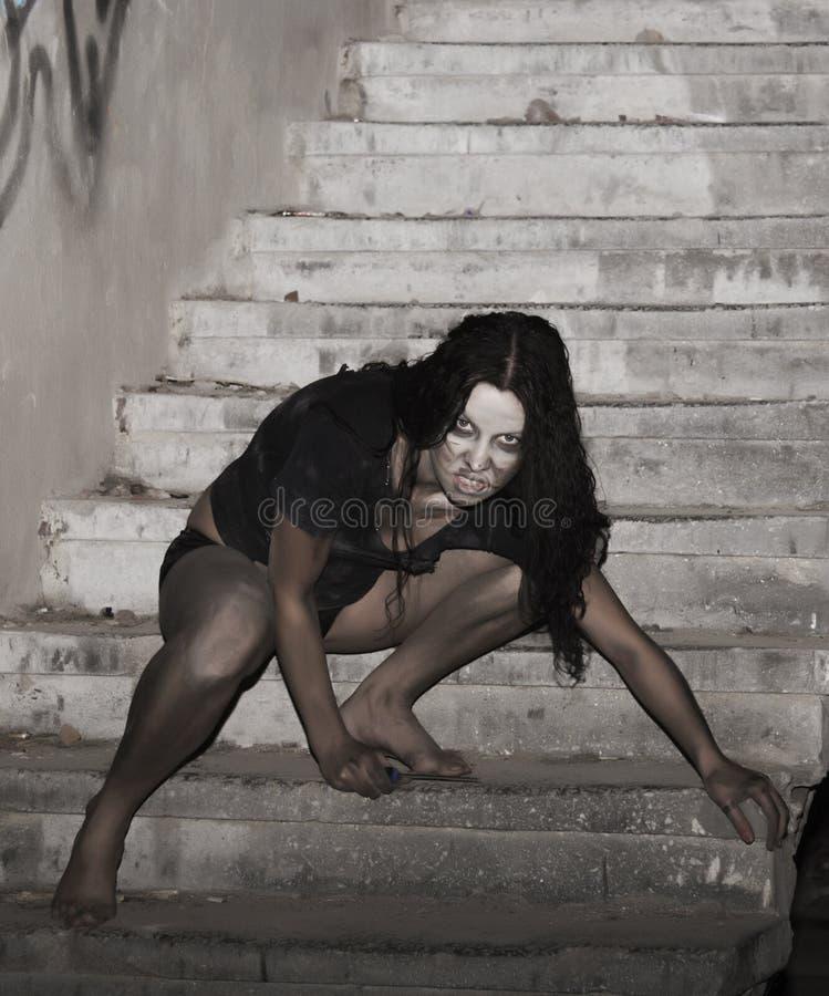 страшная женщина стоковое фото
