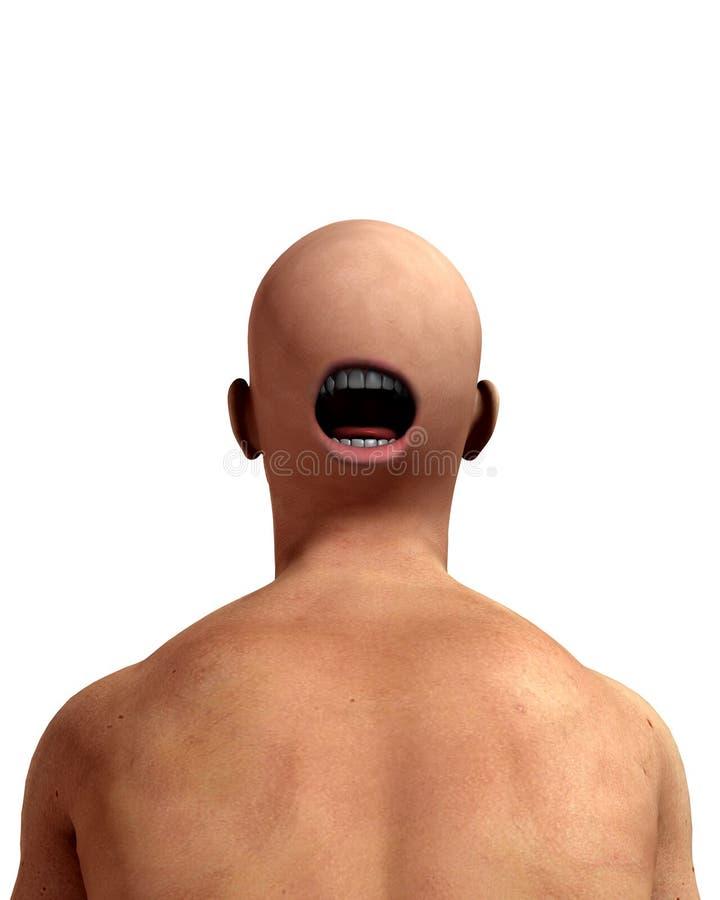 Страшная задняя часть головки стоковые изображения