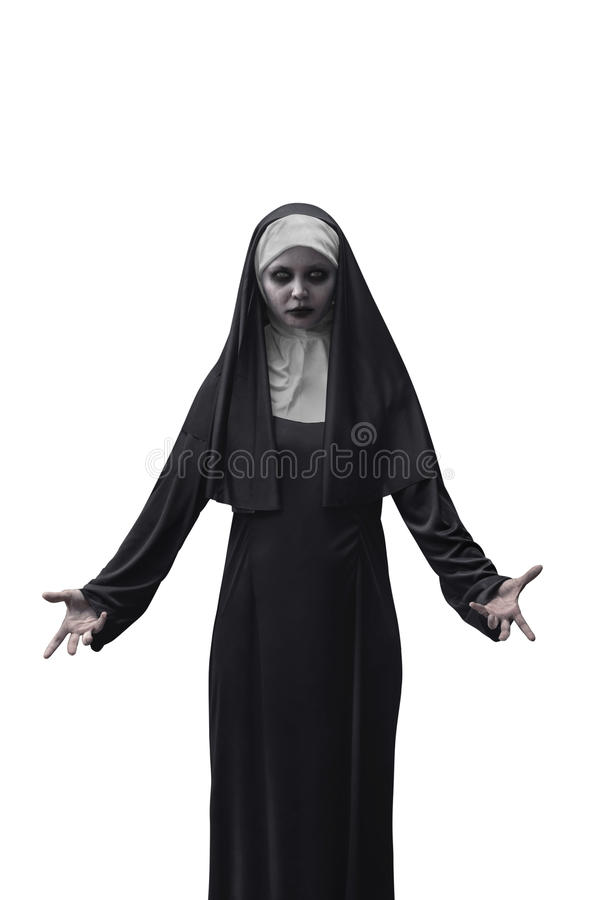 Страшная монашка дьявола стоковая фотография rf