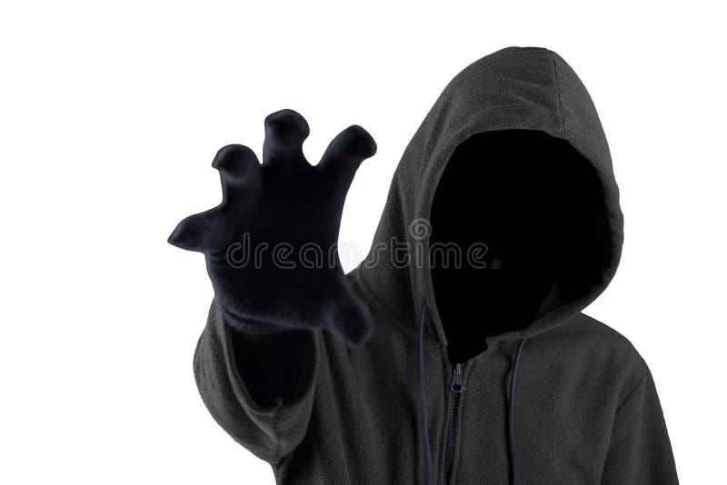 Страшная попытка похитителя для того чтобы схватить что-то стоковое изображение rf