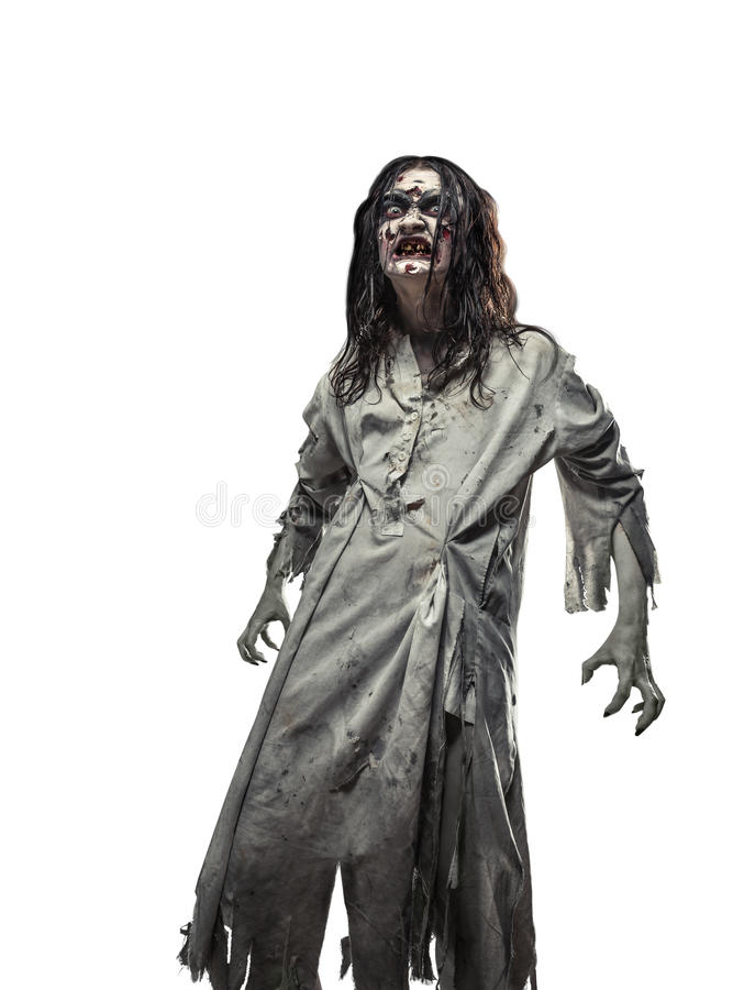 Страшное зомби нежитей halloween стоковые фото