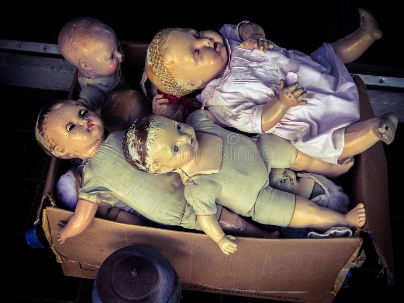 Страшные куклы стоковая фотография rf
