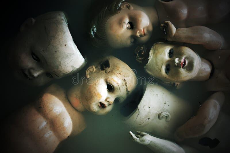 Страшные куклы стоковое изображение