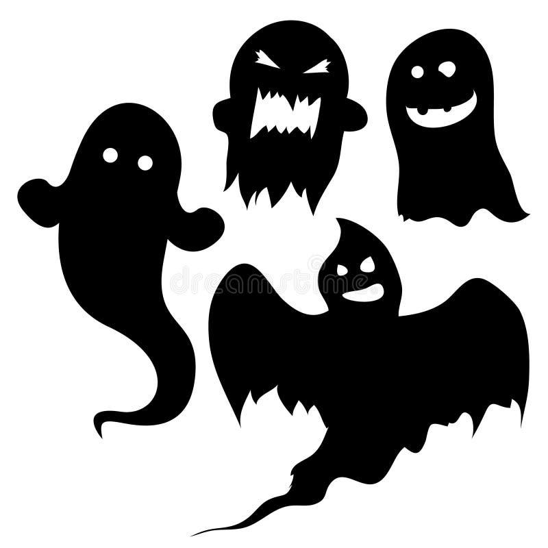 Страшные силуэты привидения бесплатная иллюстрация