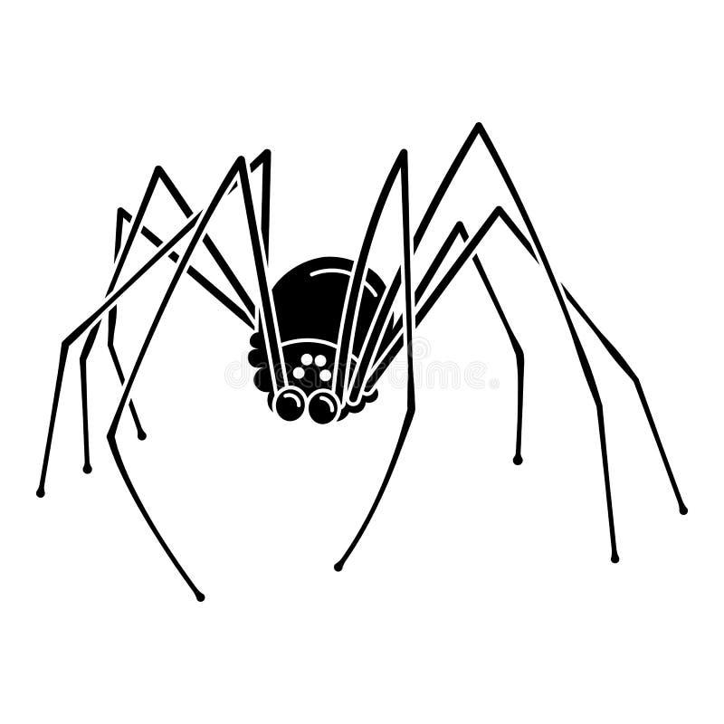 Страшный значок мечты паука, простой стиль бесплатная иллюстрация