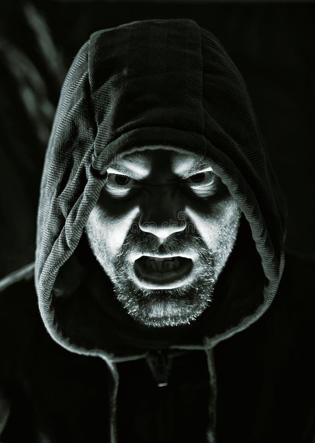 Страшный злий человек стоковые изображения
