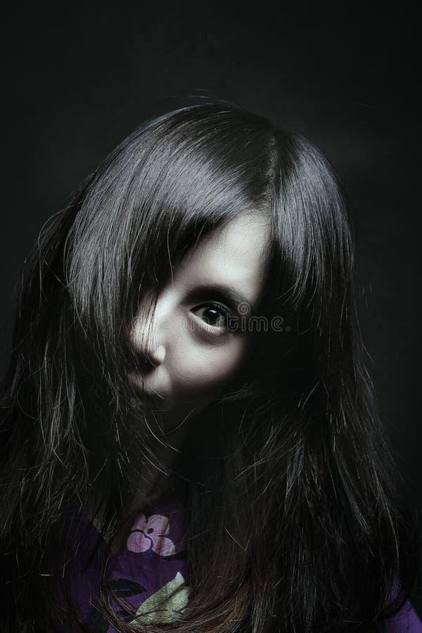 Страшный портрет японской женщины стоковая фотография