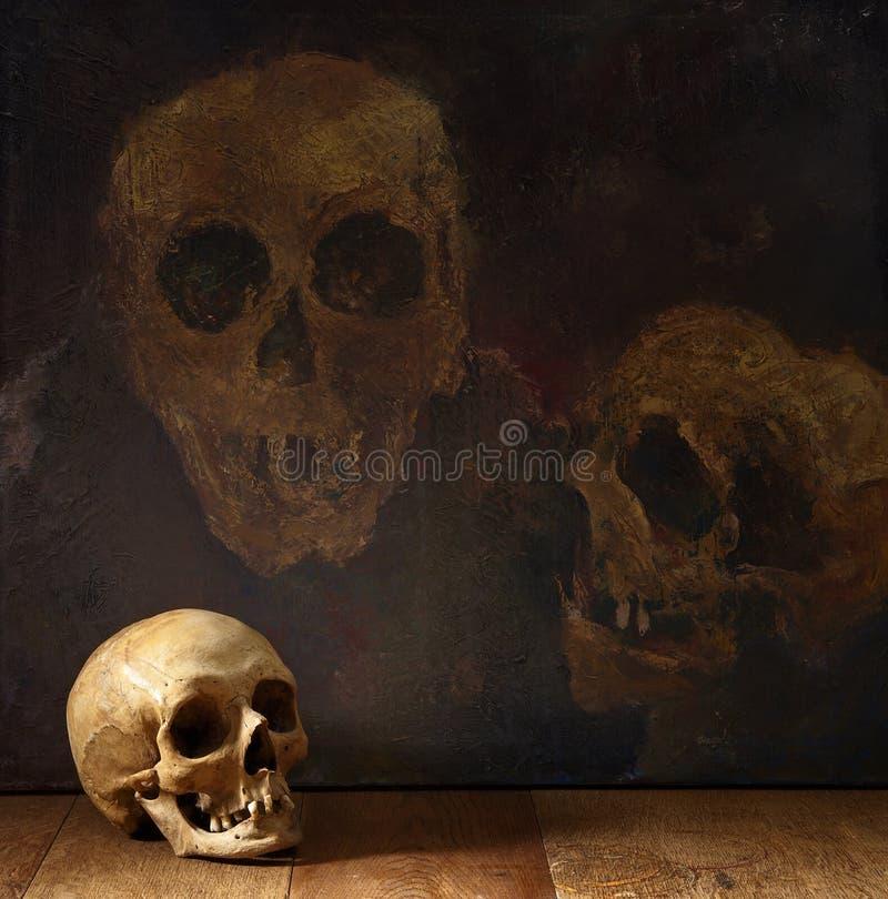 Страшный череп стоковая фотография