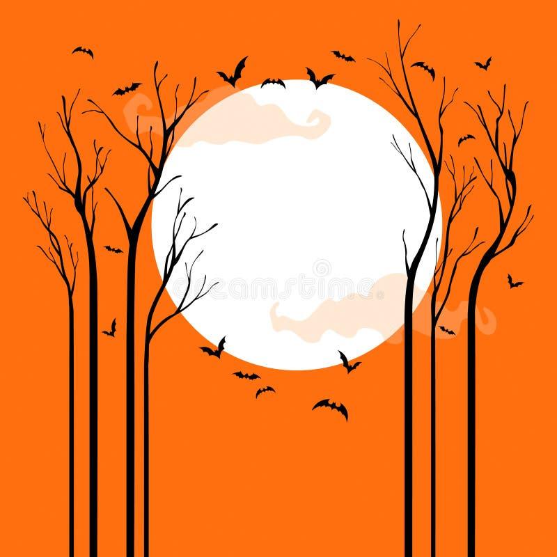Страшный Halloween иллюстрация штока