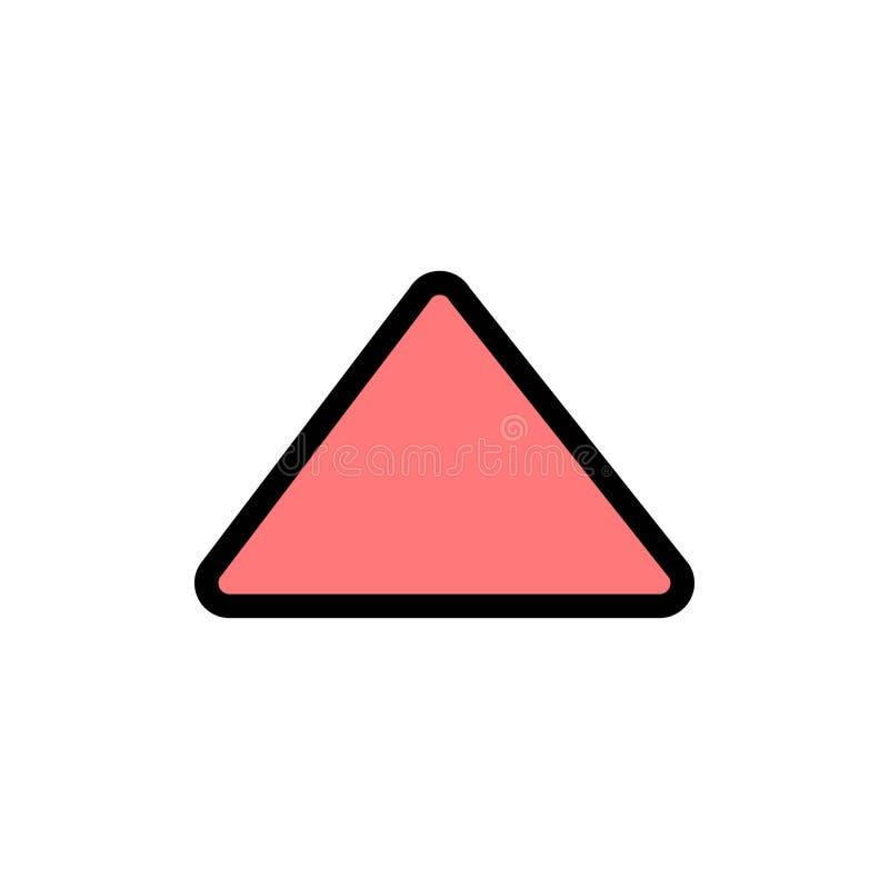 Стрелка, вверх, игра, видео- плоский значок цвета Шаблон знамени значка вектора иллюстрация штока