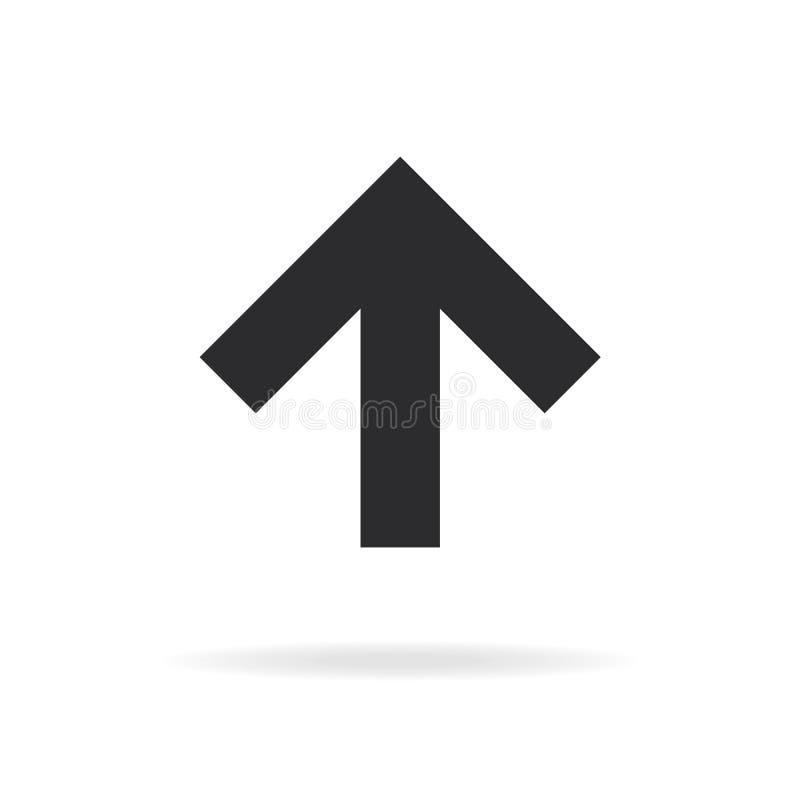 Стрелка вектора вверх по значку бесплатная иллюстрация