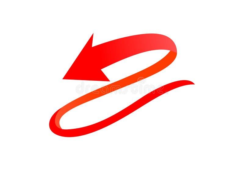 Стрелка, вектор логотипа вращения бесплатная иллюстрация