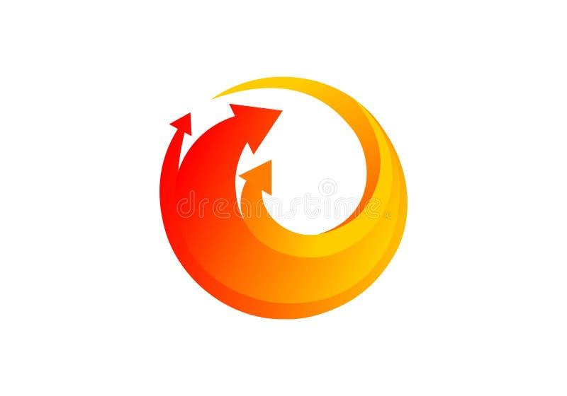 Стрелка, вектор логотипа дела бесплатная иллюстрация