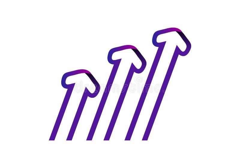 Стрелка, вектор логотипа дела иллюстрация вектора
