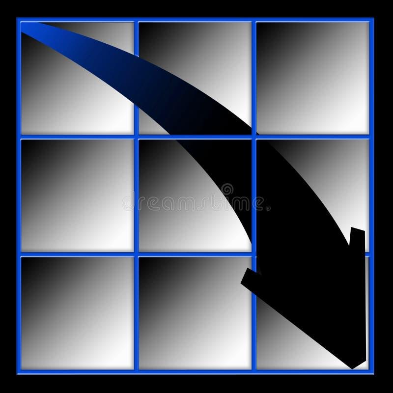 стрелка вниз идя Стоковое Изображение