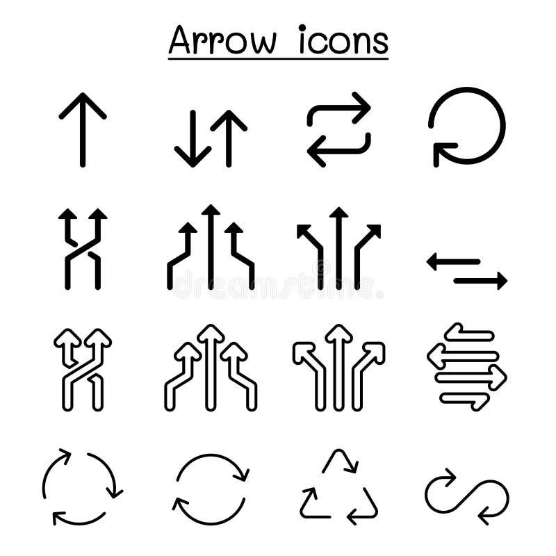 Стрелка, вращение, петля, циркуляр, обмен, графический дизайн иллюстрации вектора значка перехода установленный иллюстрация штока