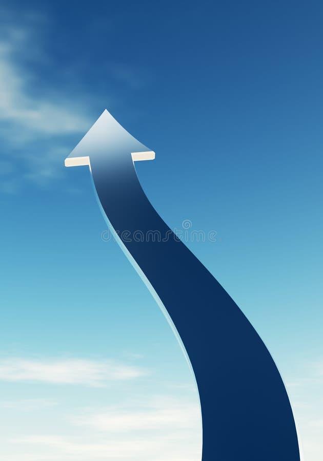 Стрелка в небе иллюстрация вектора