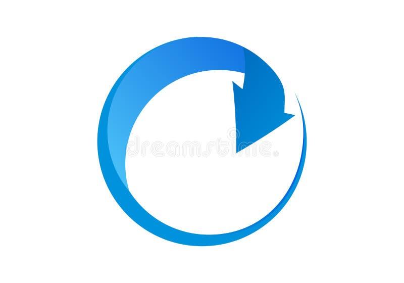Стрелка, значок, 3d, знак, символ, синь, изолированное дело, круг, направление, вверх по, иллюстрация, белизна, номер, кнопка, кр иллюстрация вектора