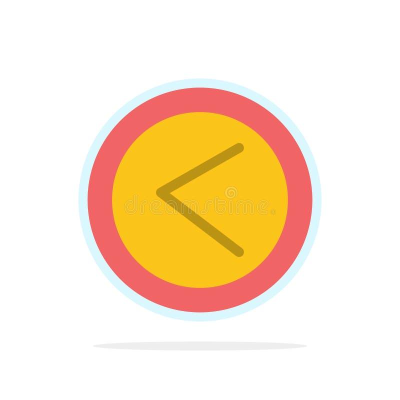 Стрелка, интерфейс, левая сторона, значок цвета предпосылки круга конспекта потребителя плоский бесплатная иллюстрация