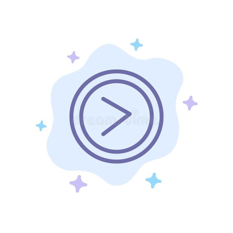 Стрелка, интерфейс, право, значок потребителя голубой на абстрактной предпосылке облака бесплатная иллюстрация