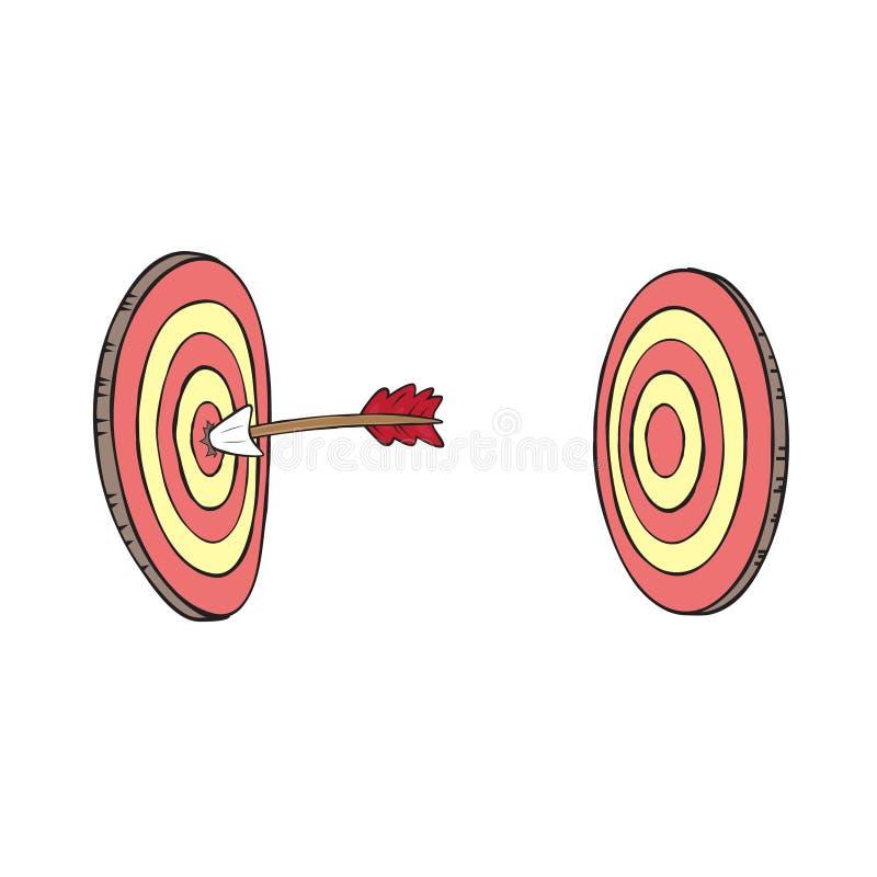Стрелка и вектор иллюстрации clipart цели бесплатная иллюстрация