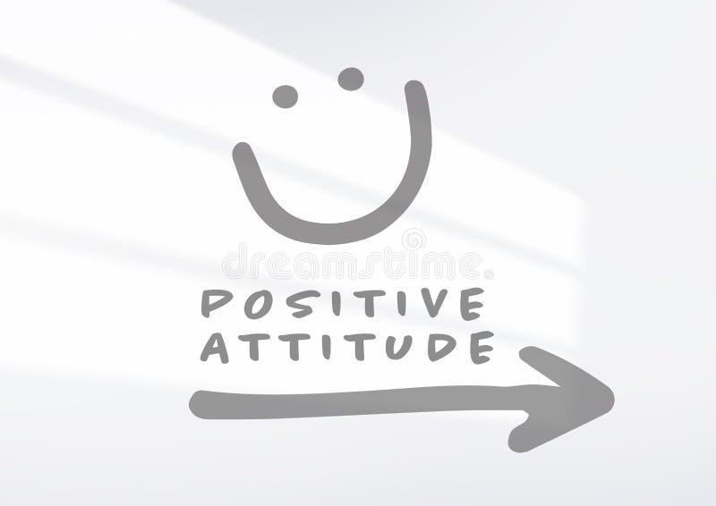 Стрелка положительной ориентации с стороной smiley стоковое фото