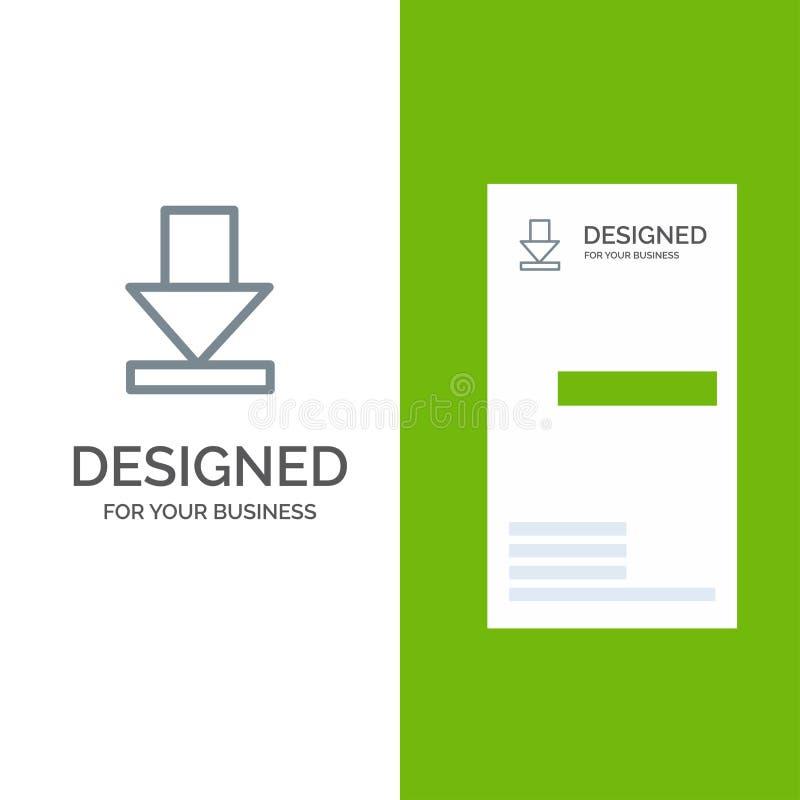 Стрелка, рассвет, дизайн логотипа загрузки серые и шаблон визитной карточки иллюстрация штока