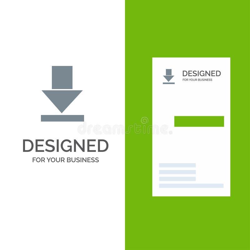 Стрелка, рассвет, дизайн логотипа загрузки серые и шаблон визитной карточки иллюстрация вектора