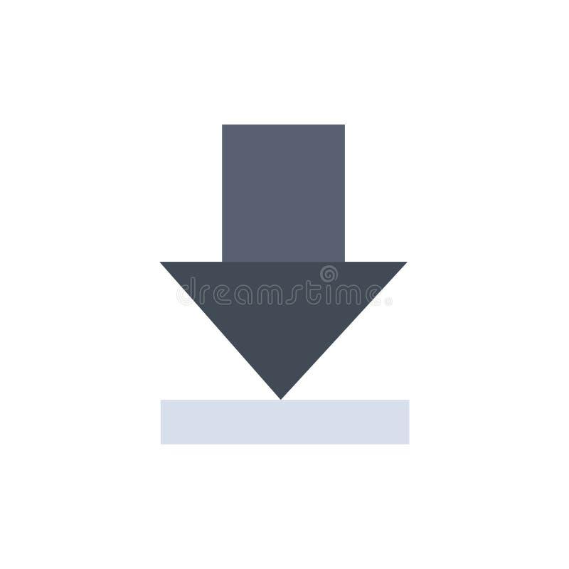 Стрелка, рассвет, значок цвета загрузки плоский Шаблон знамени значка вектора иллюстрация штока