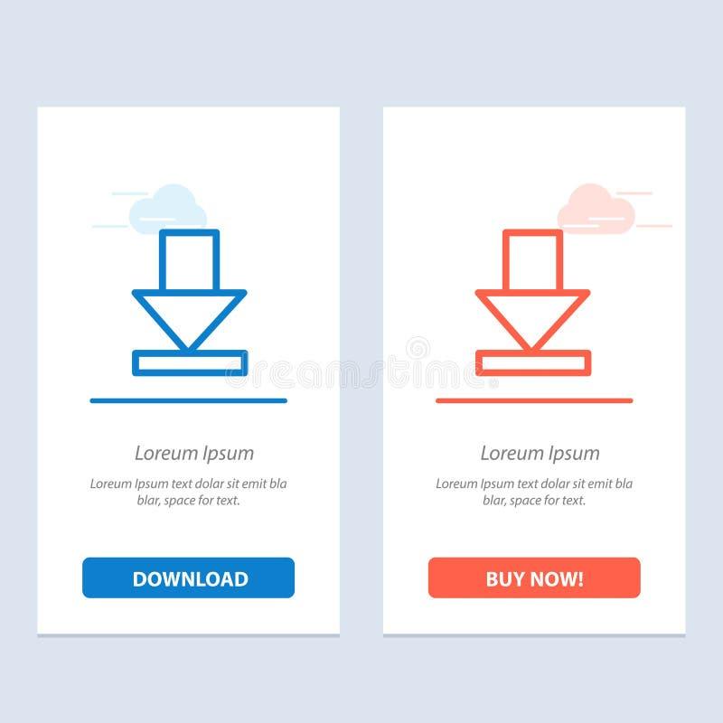 Стрелка, рассвет, синь загрузки и красная загрузка и купить теперь шаблон карты приспособления сети бесплатная иллюстрация
