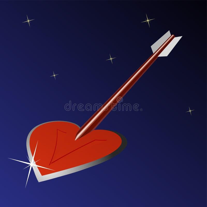 Стрелка сердца иллюстрация вектора