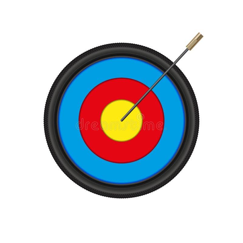 Стрелка спицы велосипеда в цели Archery также вектор иллюстрации притяжки corel иллюстрация штока