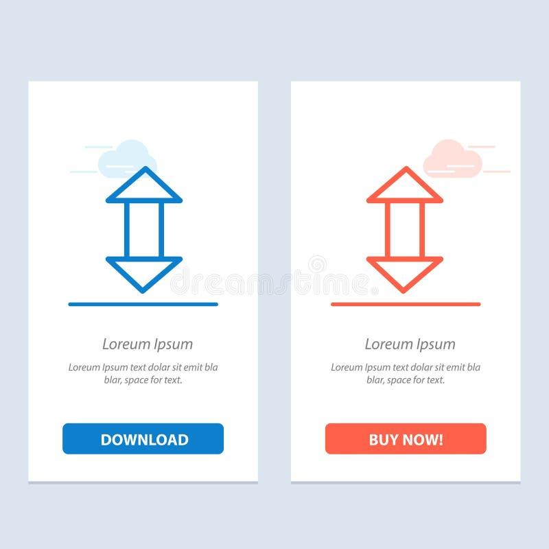 Стрелка, стрелки, вверх, вниз с голубой и красной загрузки и купить теперь шаблон карты приспособления сети бесплатная иллюстрация
