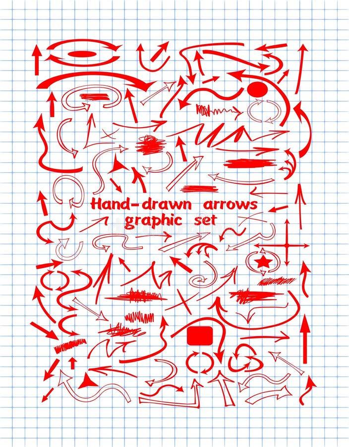 Стрелка, стрелки, графические eements, элементы дизайна иллюстрация штока