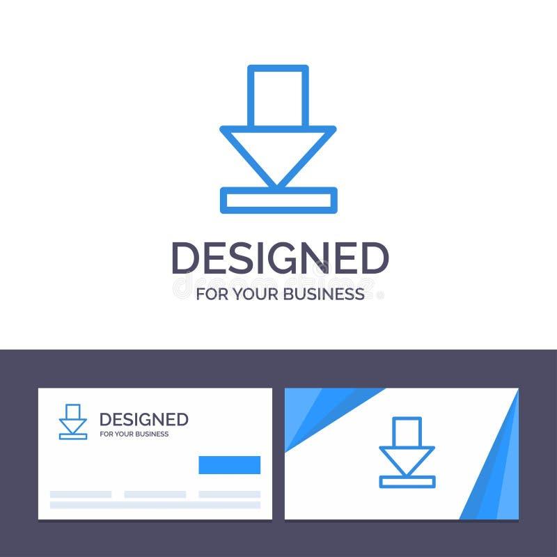 Стрелка творческого шаблона визитной карточки и логотипа, рассвет, иллюстрация вектора загрузки иллюстрация штока