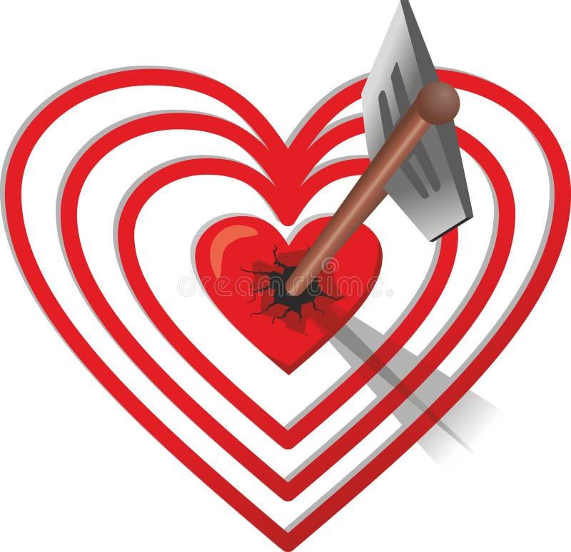 Стрелка ударила сердц-цель бесплатная иллюстрация