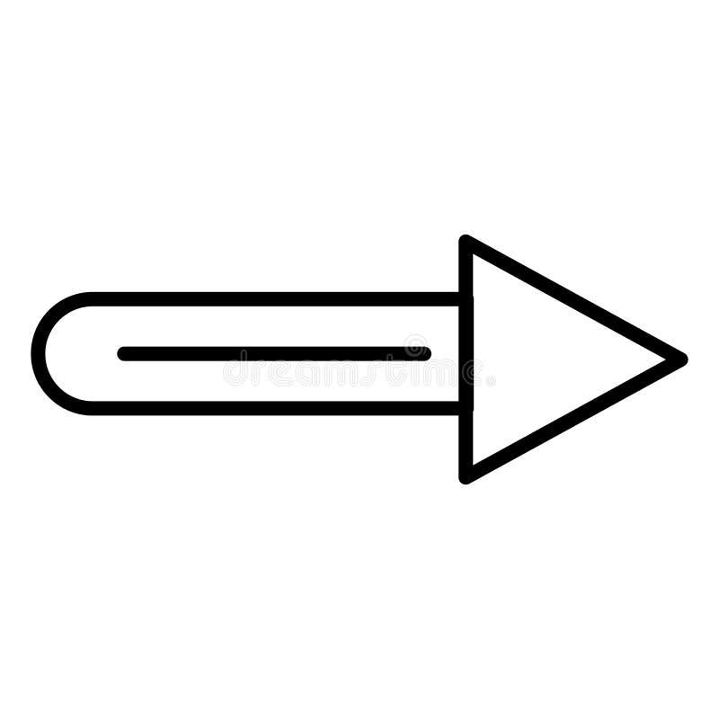 Стрелка указывая правый знак и символ вектора значка изолированные на белой предпосылке, стрелке указывая правая концепция логоти иллюстрация вектора