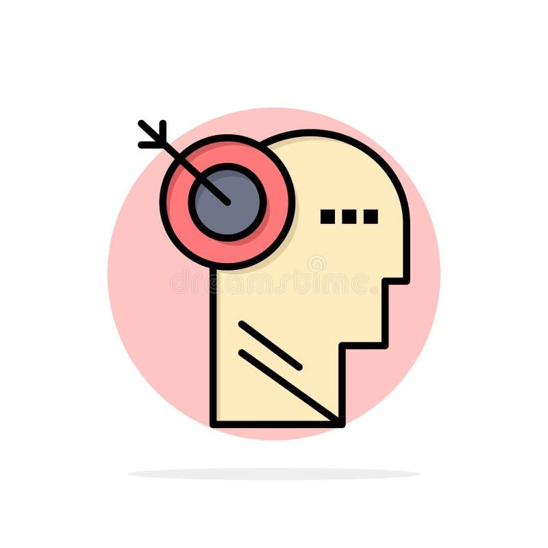 Стрелка, фокус, точность, значок цвета предпосылки круга конспекта цели плоский бесплатная иллюстрация