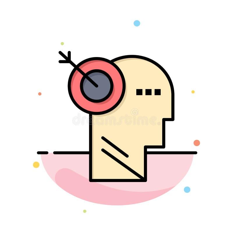 Стрелка, фокус, точность, шаблон значка цвета конспекта цели плоский иллюстрация вектора