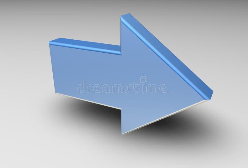 стрелка 3d иллюстрация штока
