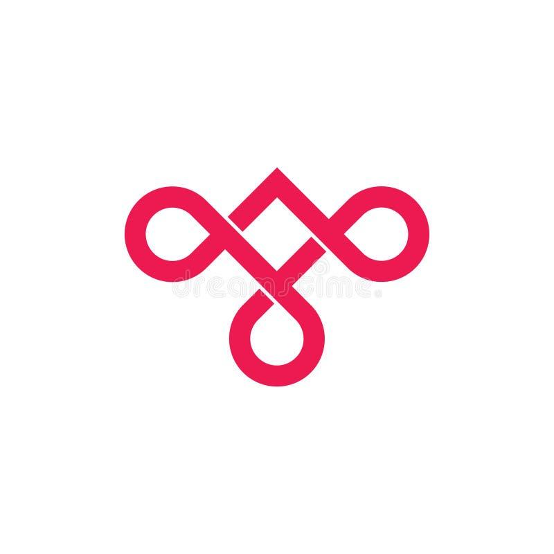 Стрелки безграничности перекрывают вектор логотипа иллюстрация штока