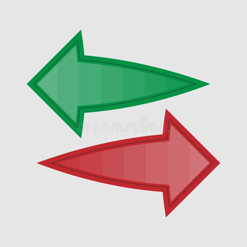Стрелки вектора в 2 направлениях иллюстрация вектора