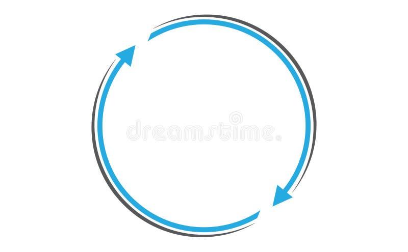 Стрелки вращая с круговой траекторией иллюстрация вектора