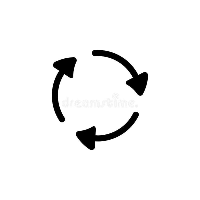 стрелки в значке круга Детальный значок экологичности подписывает значок Наградной качественный графический дизайн Один из значка бесплатная иллюстрация