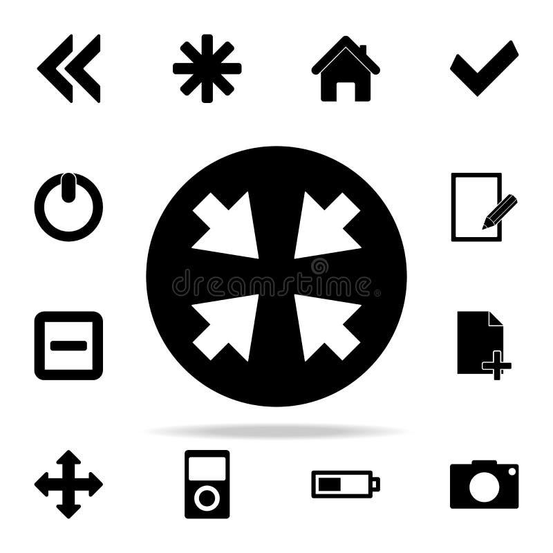 стрелки в значке круга комплект значков сети всеобщий для сети и черни иллюстрация вектора