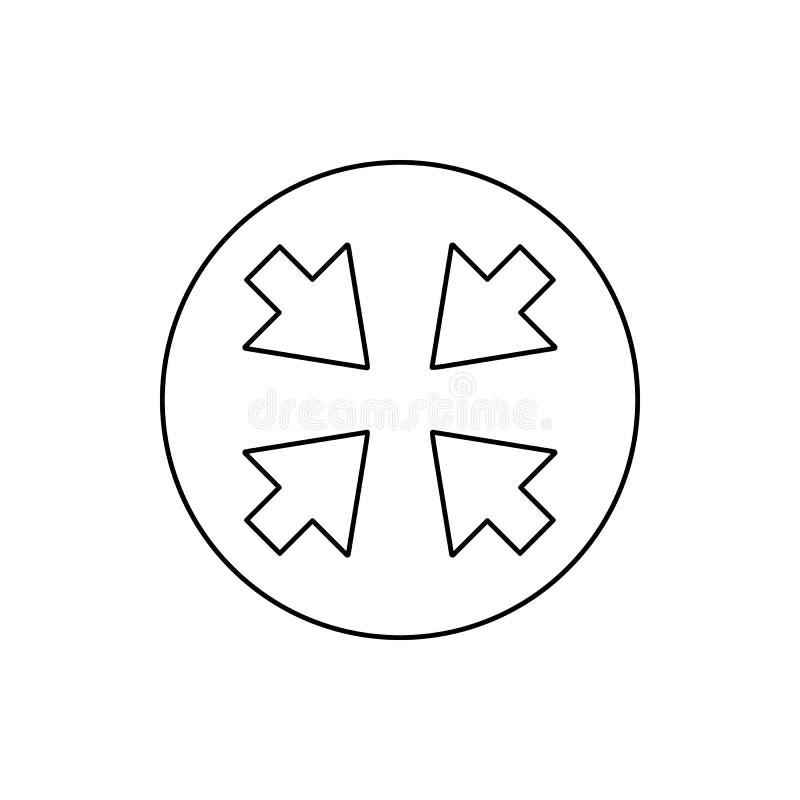 стрелки в значке круга Элемент сети для мобильных концепции и значка приложений сети Тонкая линия значок для дизайна и развития в иллюстрация вектора