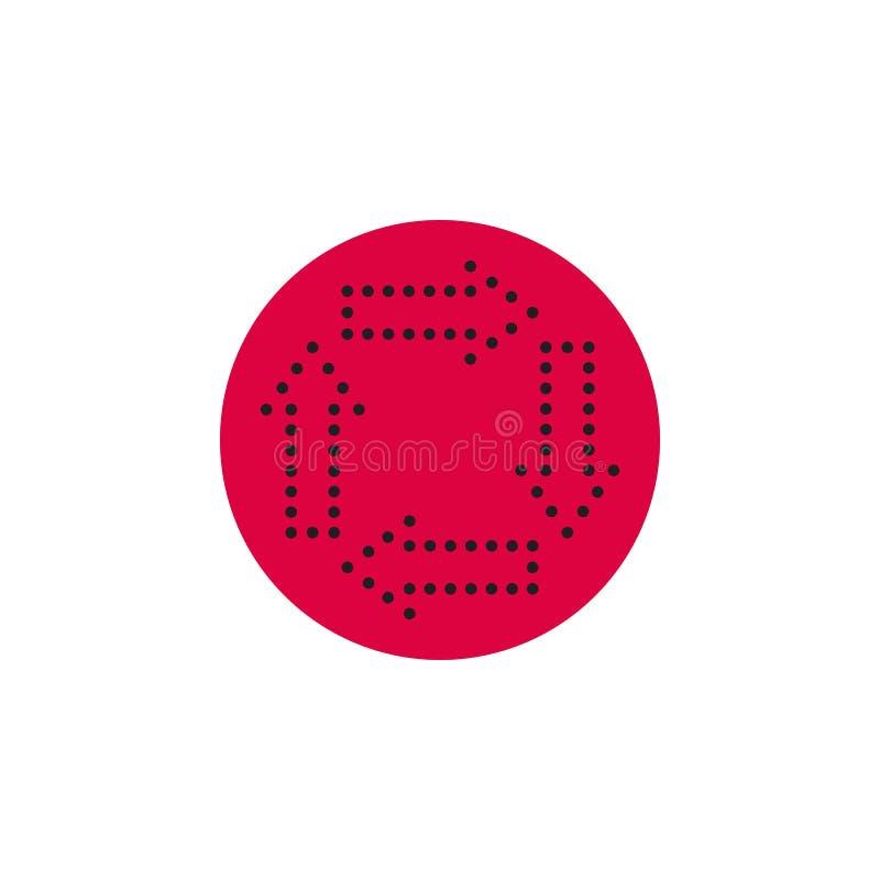 Стрелки в круге на округленном значке Иллюстрация вектора в стиле плоско Конструированный для сети и программных интерфейсов иллюстрация вектора