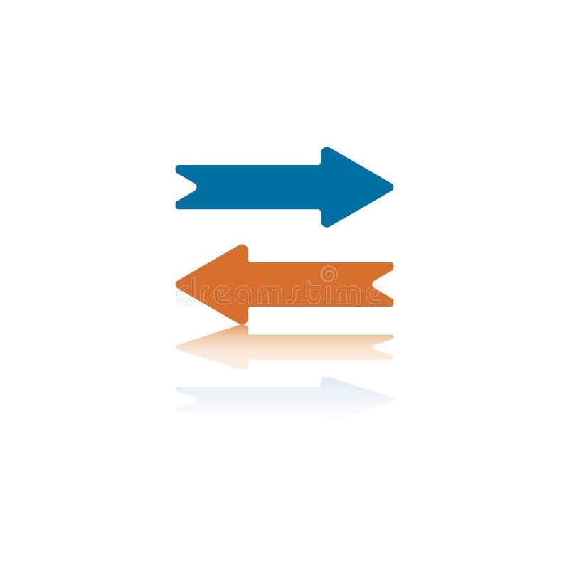 стрелки горизонтальные напротив 2 иллюстрация вектора