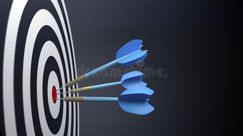 3 стрелки дротика сини типичных бесплатная иллюстрация